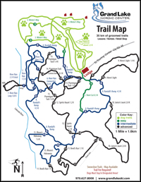 Nordic Center Trail Map